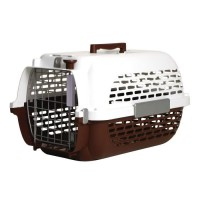 Cage Pet Voyager marron/blanc