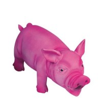 Cochon couineur latex rose 23 cm