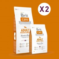 GAGNEZ 10 EUROS PAR LOT DE 2 SACS : Croquette Brit Care chien Adult Medium Breed 12 kg