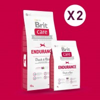 GAGNEZ 10 EUROS PAR LOT DE 2 SACS : Croquette Brit Care chien endurance All Breed 12 kg