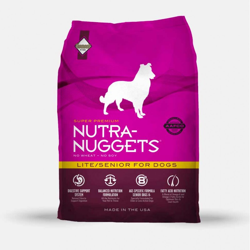 nutra nuggets croquettes chien lite senior animiam. Black Bedroom Furniture Sets. Home Design Ideas