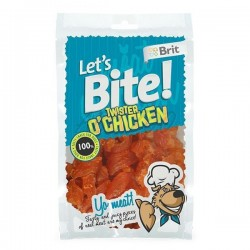 BRIT CARE - Let's Bite Poulet Et Fromage (Chicken & Cheese) - 80g