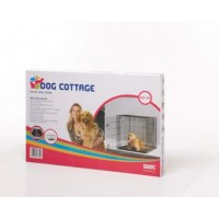 Cage transport 91cm métal noir pliante Savic Dog Cottage