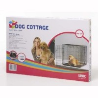 Cage transport 118cm métal noir pliante Savic Dog Cottage